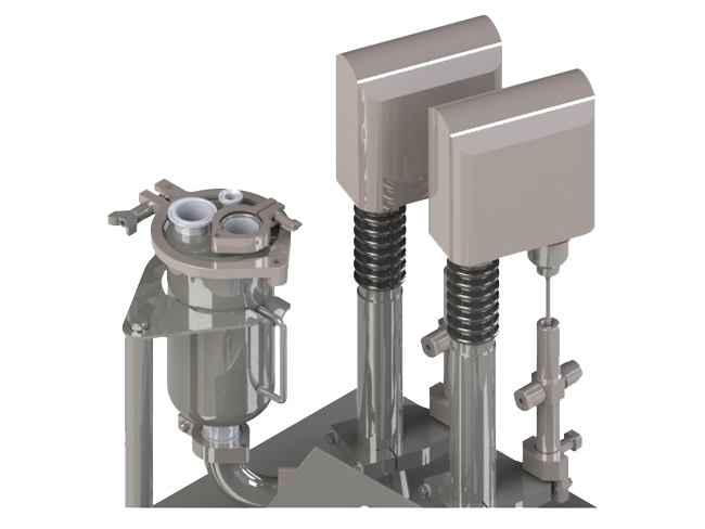 Rotary Piston Pump    	Fill Range: 0.3ml and up 	Accuracy: 0.25-1.00% 	Handles highly viscous products 	Easy to clean and sterilize, CIP/SIP available 	Easy set up; quick change over